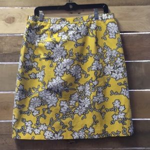 Badgley Mischka Skirts - NWT Badgley Mischka Yellow and White Flower Skirt